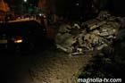 """Крым. Водитель """"Субару"""" разбил экскаватор, две легковушки, наехал на рабочих и убил пешехода. Фото"""