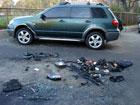 В Киеве сожгли машину известного футболиста. Фото