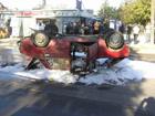 В Николаеве суровый водитель «Жигуля» сбил пешехода, а затем перевернулся. Фото