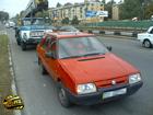 В Киеве автоподъемник догнал легковушку. И как результат – огромная пробка. Фото
