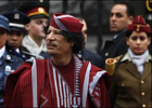 Каддафи в Киеве охраняли женщины. Фото