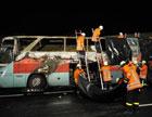 Трагедия в Германии: В автобусе заживо сгорели 20 человек. Фото