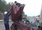 Под Житомиром произошло столкновение грузовика и легковушки. Одному из водителей крупно не повезло. Фото