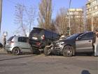 Четыре иномарки не смогли разминуться под Киевом. Фото