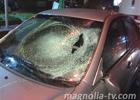 В Киеве сбили гаишника, который «разруливал» пробку. Фото