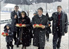 Ющенко с размахом отдал почести жертвам Голодомора. Фото