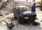 В Киеве «жигуль» чуть не утопил «Шкоду». Фото