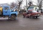 На Житомирщине грузовик превратил «Москвич» в груду металлолома. Фото