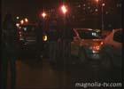 Киев. Принцип домино сыграл злую шутку с автомобилями, стоящими на светофоре. Фото