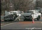 Крым. Лобовое столкновение двух шестерок закончилось очень трагически. Фото
