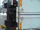 Mitsubishi Pajero перевернул грузовик в Киеве. Фото
