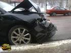 Киев. «Японец» разбил «морду» о троллейбус. Фото