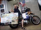 Глухой белорус на мотоцикле собирается объехать весь мир. Фото