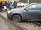 В Киеве «немец» решил попробовать себя в роли трамвая. Фото