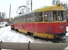 В Харькове трамвай сошел с рельсов. Пострадали женщины. Фото