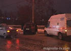 Киевлянин немного не рассчитал и слетел с дороги. Всему виной «нелетная погода». Фото