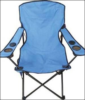 Складной стул для рыбалки с вмонтированными колонками