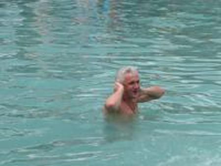 Владимир Михайлович часто ездит купаться в источнике святой Анны Свято