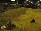 В Киеве байкер на огромной скорости разбился на трамвайных путях. Теперь его будут собирать по кусочкам. Фото