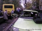 Киев. Легковушка протаранила маршрутку. Есть пострадавшие. Фото