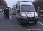 На Бориспольской трассе разбились две «сверхмашины»: «Жигуль» и «Таврия». Фото