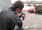 Сумы. Угашенный в стельку водитель «Дэу Нубиры» решил достать работников АЗС. На фото, чем все это закончилось