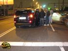 Киев. Mitsubishi Outlander был нокаутирован… мотоциклом. Фото