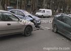 Киев. Из-за «подлого» светофора разбились три машины. Фото