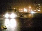 Киев. Необычайные пируэты и кульбиты совершил «Ланос», «пролетая» над оврагом. Фото