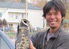 Японский путешественник дошел пешком от Шанхая до Украины. Фото