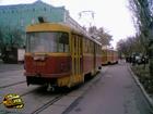 Киев. Трамвай сорвало с рельсов и понесло на припаркованные авто… Фото