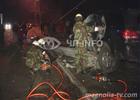 Киевлянин разбился насмерть, напоровшись на столб. Фото