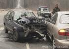 Под Киевом пьяный в дрова водитель разбил три машины. Фото