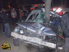 Киев. После встречи с деревом «Бумер» превратился в кучу железа. Водитель погиб на месте. Фото
