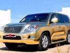 В Дубае покажут Lexus, сделанный из золота. Фото