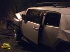 Киевщина. Внедорожник повалил дерево. Ничего удивительного – за рулем женщина. Фото
