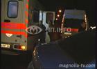 Киев. Две иномарки сильно ударились лбами. После этого полетели на тротуар. Фото