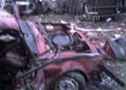 Житомирщина. Куча трупов и тонны раскуроченного железа в результате столкновения легковушки, маршрутки и грузовика. Фото