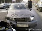 Замес в самом центре Киева. Три машины превратились в хлам. Фото
