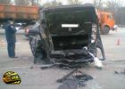 Авария в Киеве. Fiat разбил две машины. И перевернулся на крышу. Фото