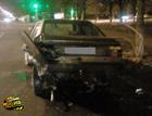 Киев. Неадекватный «японец» растолкал машины на перекрестке. Фото