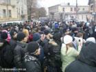 В Симферополе сожгли кума Ющенко. Пока лишь чучело. Фото