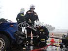 На Николаевщине грузовик расплющил «Жигуль», который рискнул с ним повстречаться лоб в лоб. Фото
