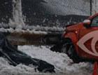 Автомобиль вылетел на тротуар и размазал пешехода по асфальту. Фото