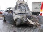Крупное ДТП в Киеве. Одна машина вспыхнула, как факел. Фото
