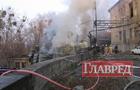 Пол-Киева в едком дыму. Знатно горел склад с резиной. Фото