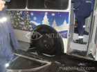 В Черкассах загорелся троллейбус, до отказа забитый пенсионерами. Фото