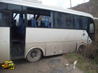 Крым. Автобус с пассажирами на скорости слетел в кювет. Пострадали люди. Фото