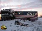 Мертвый водитель протаранил автобус. Фоторепортаж с места аварии