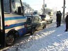 Сумы. Автобус отфутболил учебную «семерку» в «ВАЗ». Фото